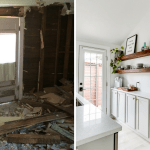 Before and After Tiny House Transformation