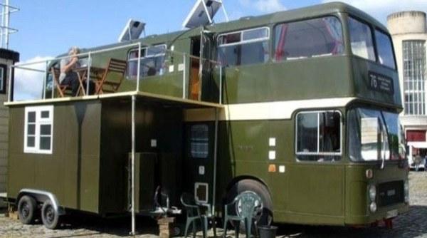 Bristol Couple's Double Decker Bus Conversion