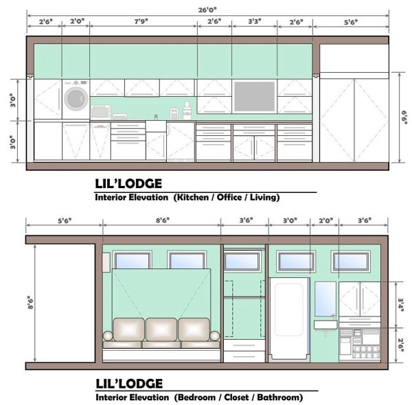 Brother and Sisters Lil Lodge Tiny House on Wheels Project 0011
