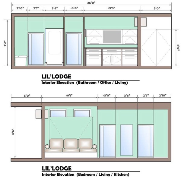 Brother and Sisters Lil Lodge Tiny House on Wheels Project 0012