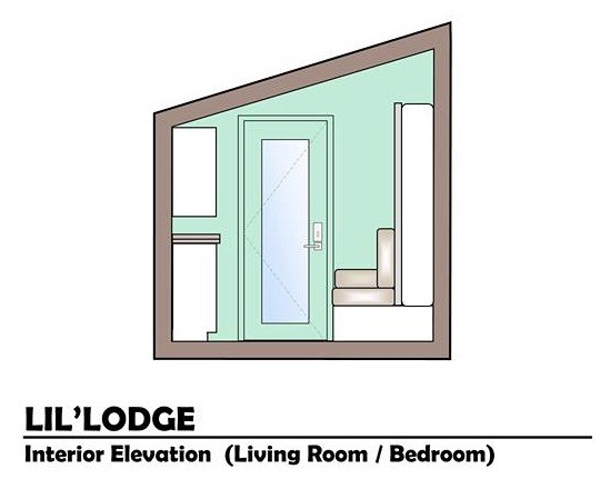 Brother and Sisters Lil Lodge Tiny House on Wheels Project 0014