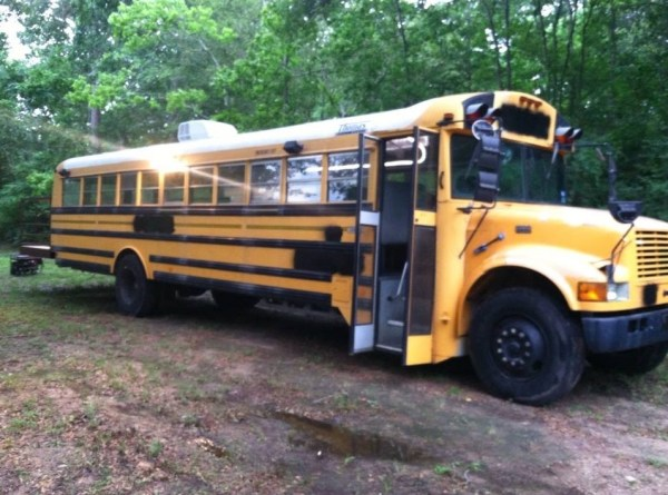 Chelie's Simple Rustic School Bus Conversion 001