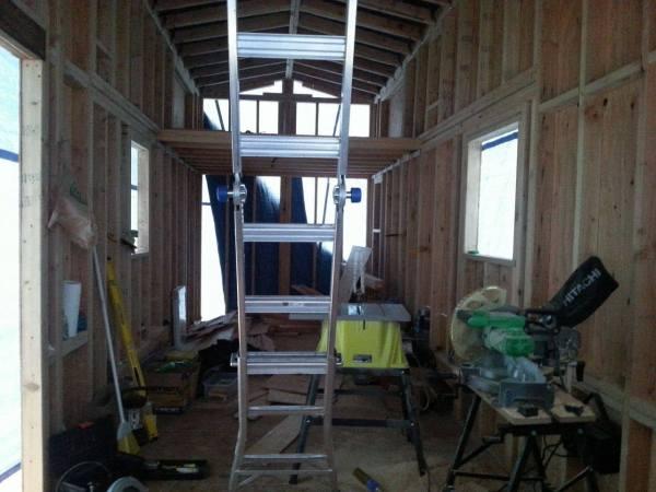 Couples 20k DIY Tiny House Construction 0016