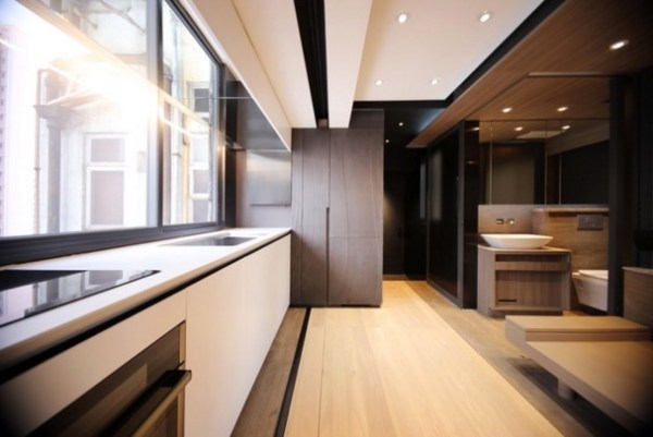 Couples 309 SF Transforming Apartment in Hong Kong by LAAB Architects 007