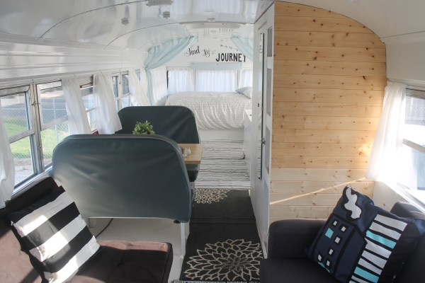 Couples School Bus Tiny Home 011