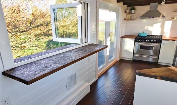 Custom Tiny House on Wheels with Dual Sink Bathroom 002