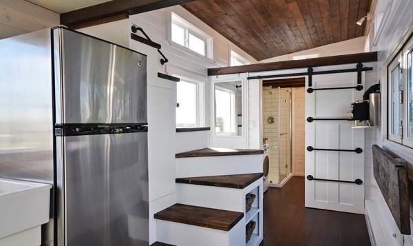 Custom Tiny House on Wheels with Dual Sink Bathroom 004