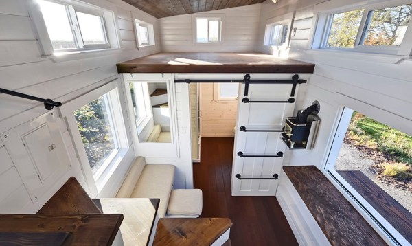 Custom Tiny House on Wheels with Dual Sink Bathroom 006