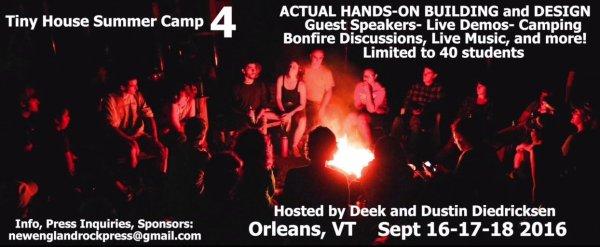 Deeks Hands On Tiny House Workshop 2016 Vermont