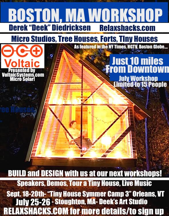 Deeks Hands On Tiny House Workshop in Boston, MA
