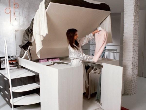 Dielle Space Saving Bed Walk In Closet 002