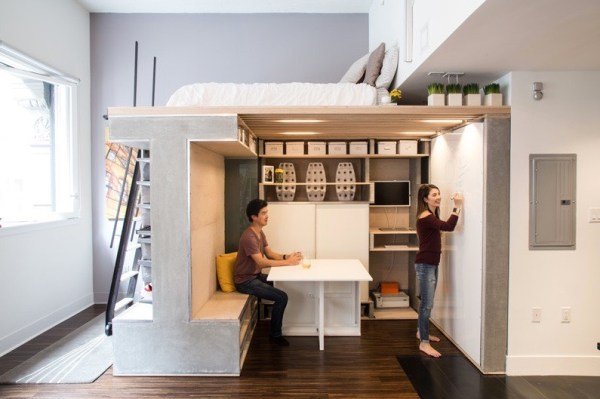 Domino Loft Multifunctional Tiny Apartment by ICOSA and Peter Suen 004