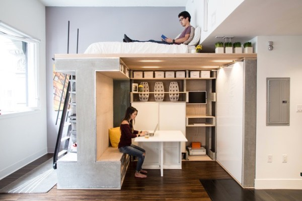 Domino Loft Multifunctional Tiny Apartment by ICOSA and Peter Suen 005