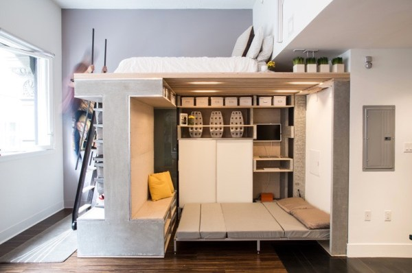 Domino Loft Multifunctional Tiny Apartment by ICOSA and Peter Suen 008