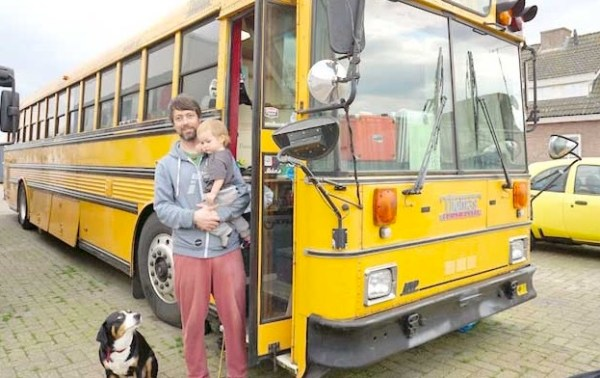 Familys School Bus Tiny Home and Hostel