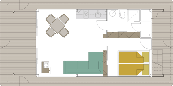 Floor Plan for No1 Living 40 Houseboat