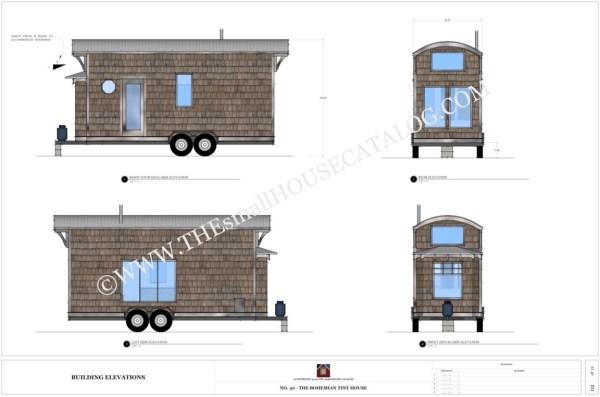 free tiny house plans the bohemian tiny house on wheels - Tiny House Plans On Wheels