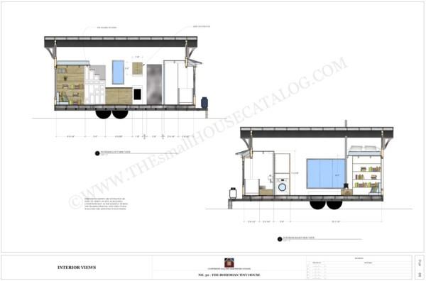 free tiny house plans the bohemian tiny house on wheels - Tiny House Plans On Wheels Free