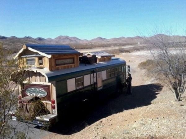 Green Cedar Bus Tiny Home 0010