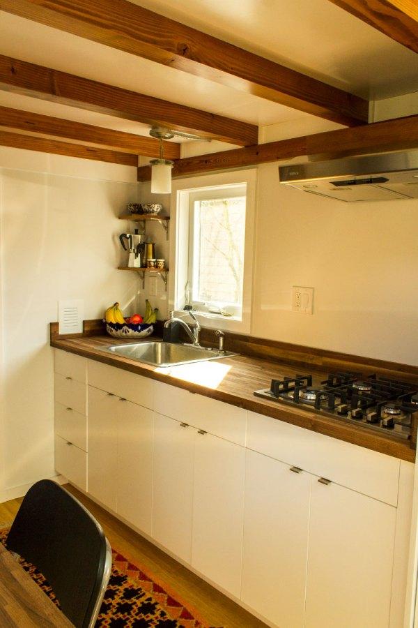 Hikari Box Tiny House Kitchen from Shelter Wise and PAD Tiny Houses