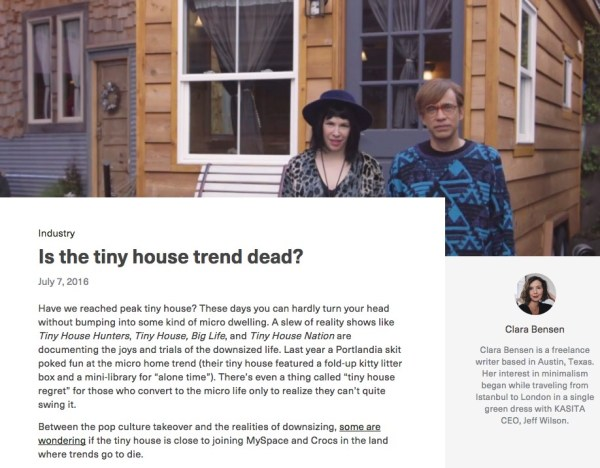 Is the Tiny House Trend Dead