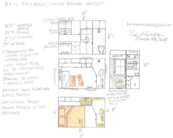 Lee Ashmore's 8x12 Tiny House Design