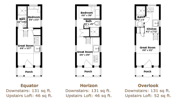 131 sq ft linden 20 horizon tiny home on wheels by for Tumbleweed floor plans
