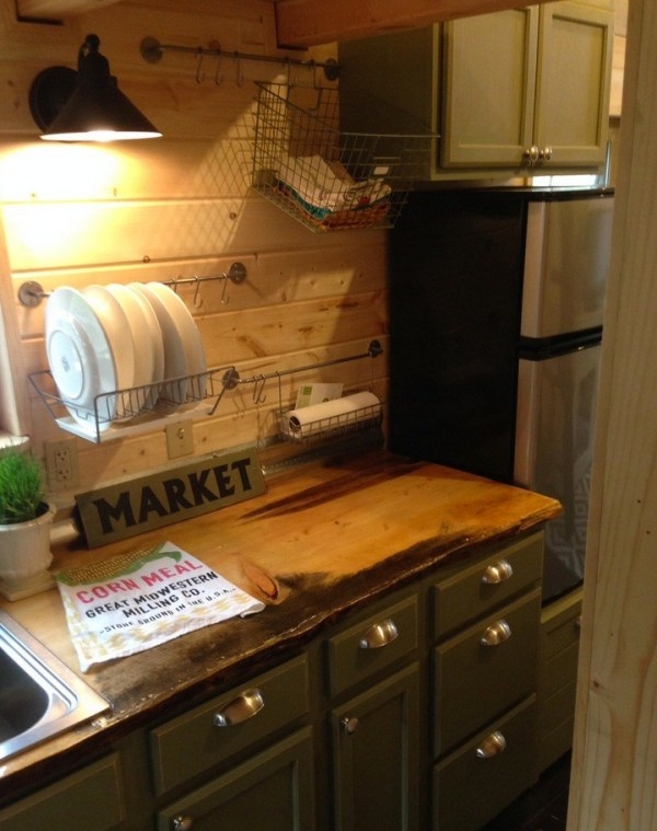 Little Kitchen in this Little Foot Tiny House on Wheels