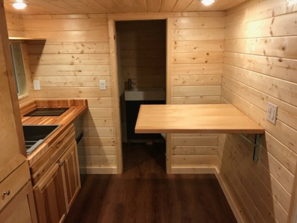 Living Area and Kitchen of a 25ft Tiny House by Innovate Tiny