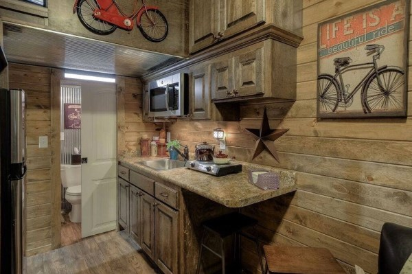 Log Cabin Shipping Container Tiny Home 004