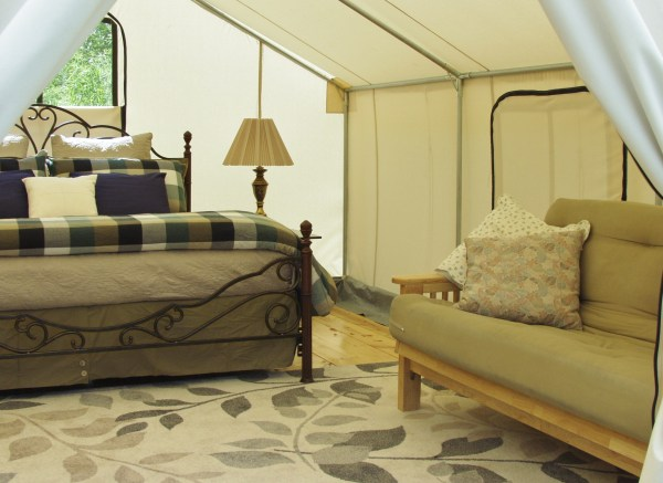 Inside the Safari Tent
