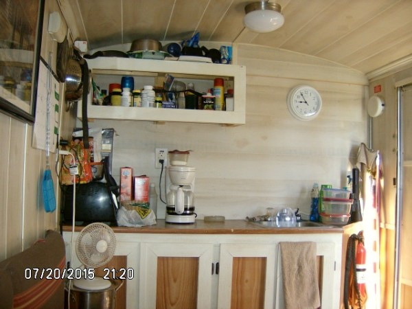 Man Turns Cargo Trailer into DIY Stealth Tiny Home 004