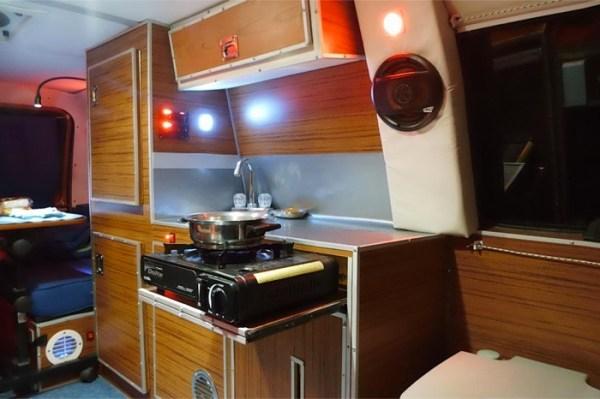 Mans DIY Micro Office and Camper Van 003