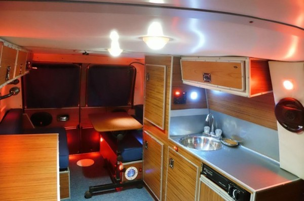 Mans DIY Stealth Camper Van With A Mobile Office Inside