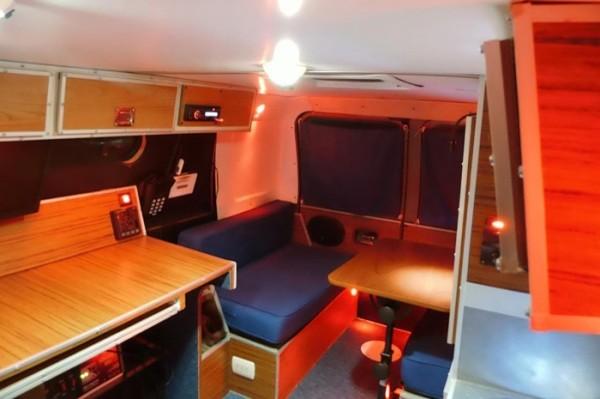 Man S Diy Stealth Camper Van With A Mobile Office Inside