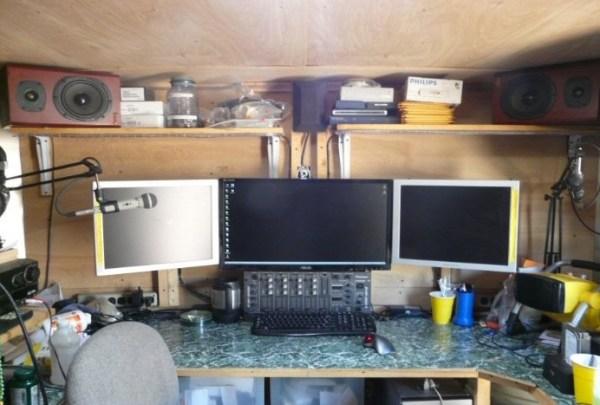 Mans DIY Stealth Cargo Trailer Tiny House 0013