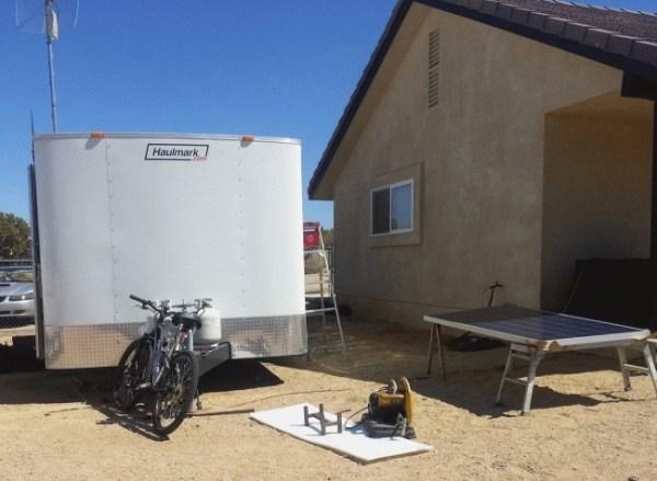 Mans DIY Stealth Cargo Trailer Tiny House 0014