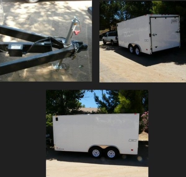 Mans DIY Stealth Cargo Trailer Tiny House 0017