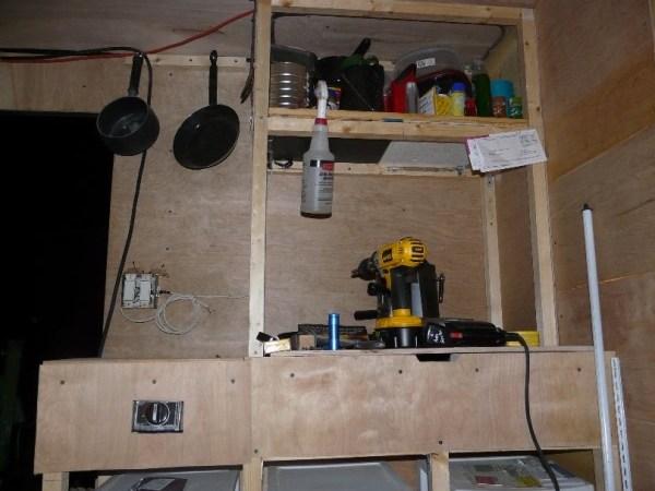 Mans DIY Stealth Cargo Trailer Tiny House 007