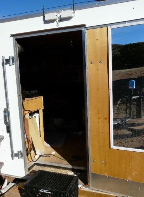 Mans DIY Stealth Cargo Trailer Tiny House 009