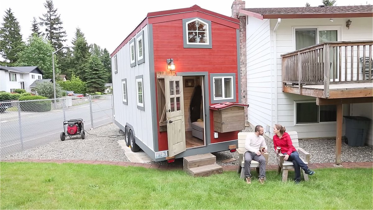 300 sq ft his 39 n hers tiny house for 300 square foot cabin
