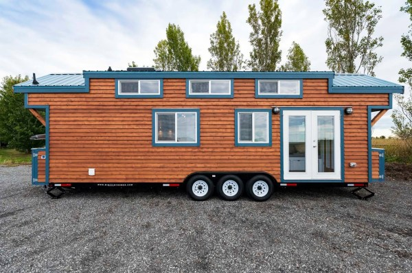 beautiful trailer tiny home.  Beautiful 30 Mint Tiny Home on Wheels with Vaulted Ceilings