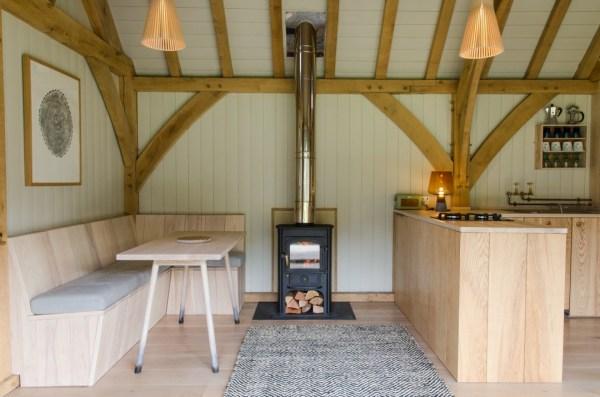 Modern And Minimalist Tiny Oak Cabin