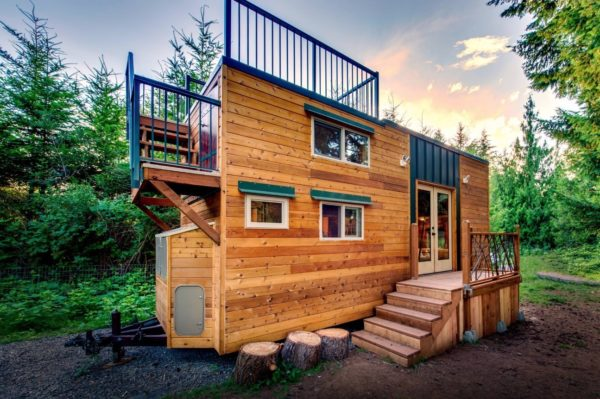 Mountaineer Tiny Home with Rooftop Deck 001a
