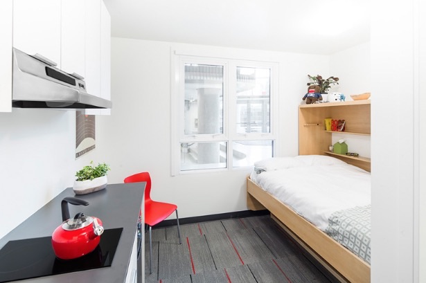 Nano studio 140 sq ft micro apartment for students for 140 square feet room