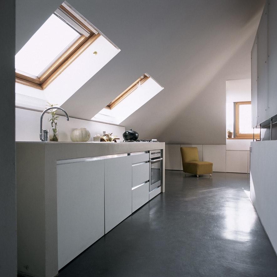 Attic Space Converted Into 322 Sq Ft Loft Apartment