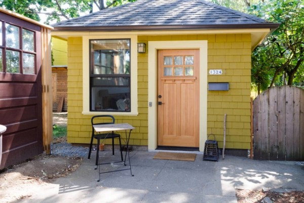 Old Garage Converted into Tiny Cottage 01