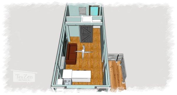 Open Concept TexZen Tiny House