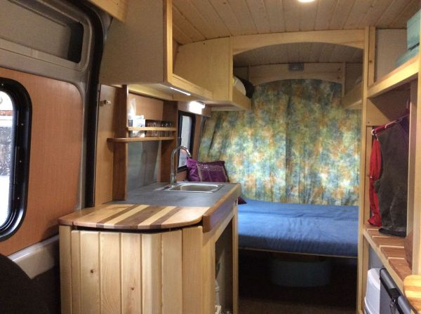 2014 Ram Promaster Cargo Van Converted into a Motorhome ...