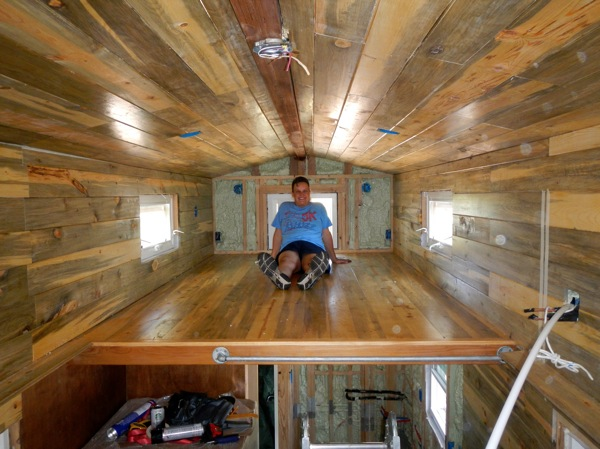 Retired Military Woman Building Her Own Tiny House